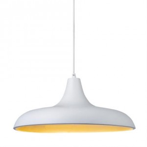 Taklampe   Bryne hvit/sølv