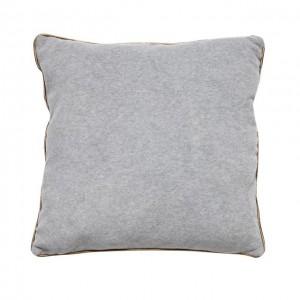 Pute |Lysegrå | Sølvkant | Polyester/bomull