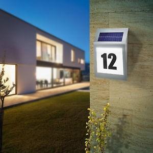Husnummerskilt | Solcelle